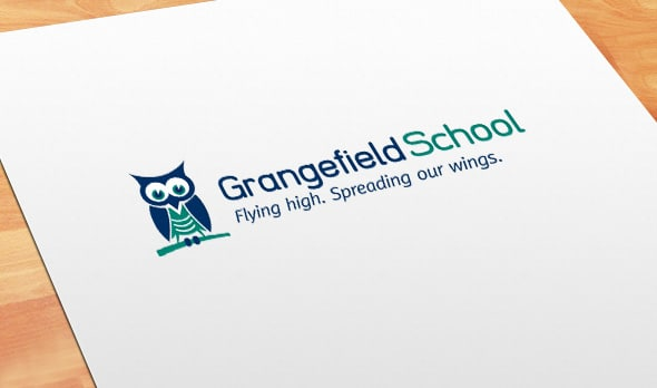 School logo design for Grangefield School, Gloucestershire