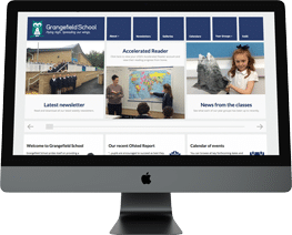 School website design Grangefield School Gloucestershire