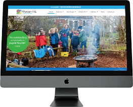 School website design Warden Hill Primary School Gloucestershire