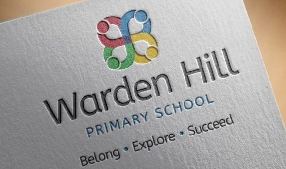 School logo design for Warden Hill Primary School, Gloucestershire