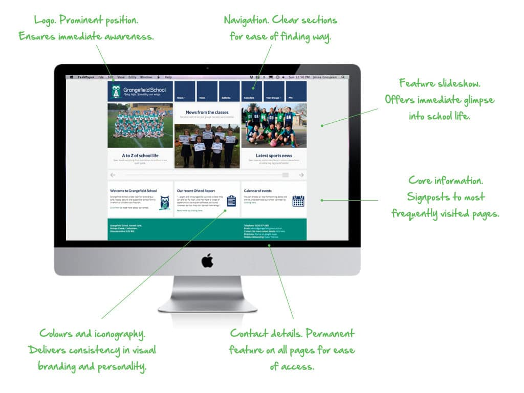 The anatomy of a good school website home page - Gloucestershire Schools