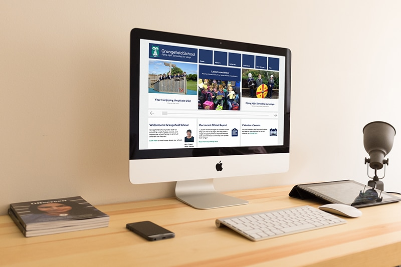 School website design solution for Grangefield School, Gloucestershire