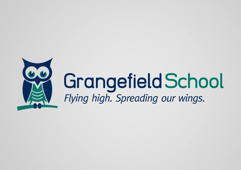 School logo branding design for Grangefield School Gloucestershire