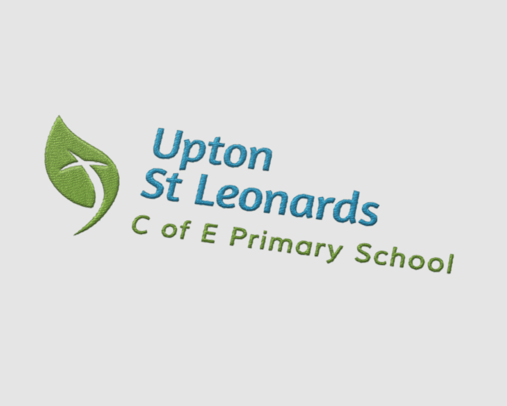 school logo design for Upton St Leonards C of E Primary School, Gloucestershire