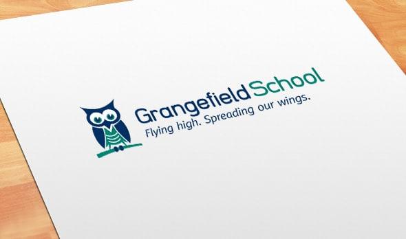 School logo design for Grangefield School, Gloucestershire