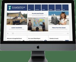 School website design Grangefield School Gloucestershire