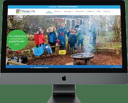 School website design Warden Hill Primary School Gloucestershire