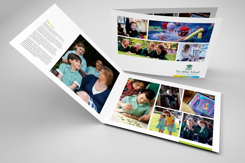 School prospectus design for The Abbey School Reading