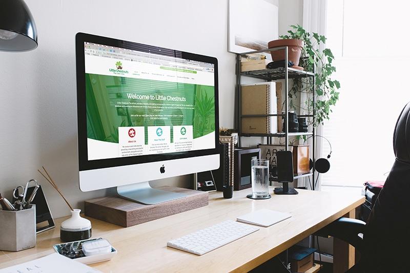 School website design for Little Chestnuts Pre-school Gloucestershire