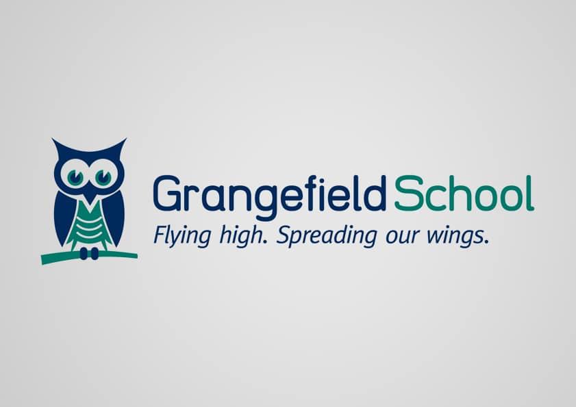 School logo branding design for Grangefield School Gloucestershire